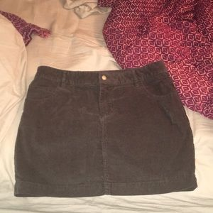 Urban outfitters high rise corduroy skirt